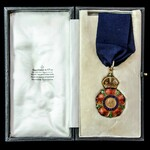 The Most Eminent Order of the Indian Empire, Companion, C.I.E., neck badge, gold and enamels. The...