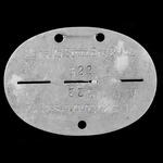 Germany - Third Reich: Complete Wehrmacht Army zinc identity disc stamped up '2.Ers.Kp.Schtz.Ers....