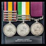 South Africa Boer War Belmont and Modder River and long service group awarded to Sergeant W.C. Ba...