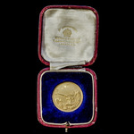 The rare Wakefield Gold Medal for the destruction of Zeppelin L15, housed in its fitted presentat...