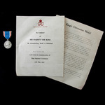 Coronation Medal 1937, as awarded to M.C. Tillard, together with the accompanying award certificate.