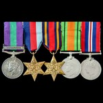 Palestine Arab Rebellion and Second World War Burma group awarded to Acting Corporal later Sergea...