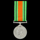 Defence Medal 1939-1945, with Home Secretary single medal entitlement slip, and Home Office card ...