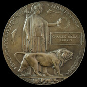 Great War Memorial Plaque named to Charles William Griffin. There are two possibilities for this ...