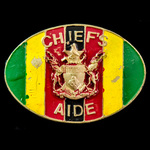 Zimbabwe Chief's Aide Badge 1980 to present, brass with painted enamel finish, complete with both...