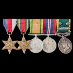 Second World War Burma campaign and Territorial long service group awarded to Private A.L. Breeze...