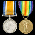Great War Officer Casualty pair awarded to 2nd Lieutenant P.E. Wright, Royal Field Artillery, who...