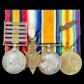 South Africa Boer War and Great War 1914 Cavalryman's Mention in Despatches group awarded to Temp...