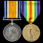 A Great War Casualty Pair awarded to Private E. Phoenix, Suffolk Regiment, later 9th Battalion, D...