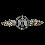 Germany, Third Reich: Luftwaffe Short Range Night Fighter Clasp in Silver, with 'R.K' maker mark....