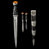 Great Britain - An impressive early 20th Century period Scottish Officer's Dirk for to the Argyll...