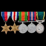 Second World War North West Europe and Territorial Long Service Group awarded to Warrant Officer ...