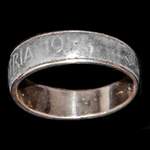 A Great War 'Pro Patria 1914' gold and iron ring, quite possibly produced and worn to show suppor...