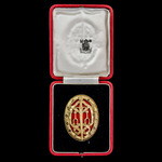 Knight's Bachelor's Badge, 2nd smaller type, silver gilt and enamel, bearing hallmarks for London...
