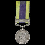 India General Service Medal 1908-1935, 1 Clasp: Burma 1930-32, awarded to Private S.F. Miles, The...