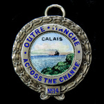 Masonic Calais 'Across the Channel' Lodge No.14 Jewel, silver, gilt and enamels, hallmarks for Lo...