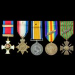 The interesting 1914-1915 Star, British War Medal and French Croix de Guerre awarded to the succe...