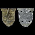 Germany - Third Reich: Crimea / Krim Shield, most of bronze wash still present, with back plate a...