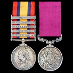 South Africa Boer War Relief of Ladysmith and long service pair awarded to Corporal A. Mercer, Mi...