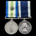 The rare South Atlantic 1982 Falklands War Submariner's long service pair awarded to Marine Engin...