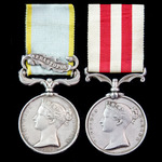 Crimea Siege of Sebastopol and Indian Mutiny pair awarded to Private William Bailey, 17th Lancers...