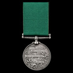 Volunteer Force Long Service and Good Conduct Medal, Victoria Regina bust, engraved naming, award...