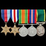 Second World War North West Europe and Territorial long service group awarded to Private W. Dingw...