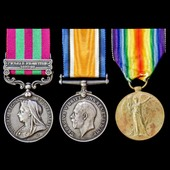 India Punjab Frontier 1897 to 1898 and Great War group awarded to Private L.E.G. D'I. Brumhill, 1...