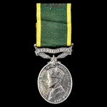 Second World War Battle of Gazala and Battle of Anzio double casualty Efficiency Medal, GVI 1st t...