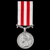 Indian Mutiny Medal 1857-1859, no clasp, awarded to Private John Maneeley, 17th Lancers, whose su...