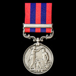 India General Service Medal 1854-1895, 1 Clasp: Perak awarded to Private M. Meehan, 1st Battalion...