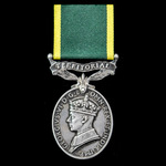 Efficiency Medal, GVI 1st type bust, awarded to Warrant Officer Class 2 T.A. Hetherington, Royal ...