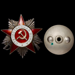Russia – Soviet: A telegraph line repair work Order of the Patriotic War 2nd Class awarded to Sen...