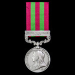 India General Service Medal 1895-1902, 1 Clasp, Relief of Chitral 1895, awarded to Private A.T. P...