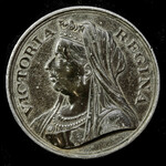 ​  Great Britain: Pewter Queen Victoria's Diamond Jubilee 1897 Commemorative Medal issued by St. ...