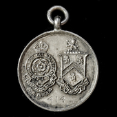 Sportsman Battalion Royal Fusiliers Tribute Medal, Silver, hallmarked, as issued to the volunteer...