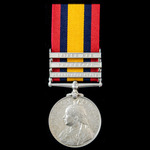 A superb example of a Queen's South Africa Medal 1899-1902, 3 Clasps: Orange Free State, Transvaa...