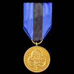 Ethiopia - Police Medal, 1st class, 1957-1974 issue. Circular silver gilt medal with loop for rib...