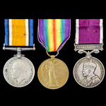 Great War Battle of Cambrai Prisoner of War and long service group awarded to Corporal G. James, ...