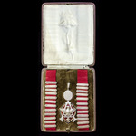 Acland Burghley School Old Scholars Association President's Jewel, silvered metal and enamels, of...