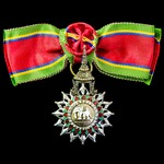 Thailand: The Most Exalted Order of the White Elephant 4th Class, Member's Grade, in silver and e...