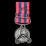 An India General Service Medal 1854-1895, 1 Clasp: Burma 1887-89, awarded to Rifleman Alfred Mill...