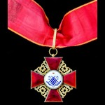 Russia - Imperial Russia: Order of Saint Anne 2nd Class neck badge, bronze-gilt and enamels, badg...
