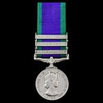 Campaign Service Medal 1962, 3 Clasps: Malay Peninsula, Borneo, Northern Ireland, awarded to Guar...