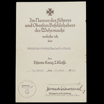Germany – Third Reich. A Scarce Bravery Document Group of 5 Award Certificates to Obergefreiter F...