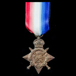 1914 Star awarded to Private F.W. Dadson, Army Service Corps, who was present with a Mechanical T...