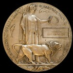 A Great War Mesopotamia Officer Casualty Memorial Plaque issued in memory of Gerald MacKintosh, a...