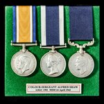 A fine Great War Home Service, Royal Navy Long Service and Good Conduct Medal and Royal Marines M...