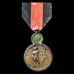 Belgium: Yser Medal 1914, bronze and enamel.