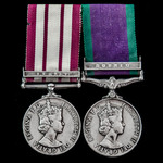 A rare Fleet Air Arm Helicopter crewman's Brunei and Borneo Indonesian Insurgency pair awarded to...
